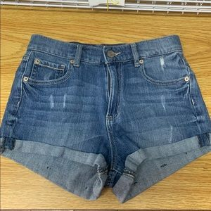 Garage High Waist Retro Jean Shorts